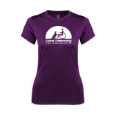 Ladies Syntrel Performance Purple Tee-