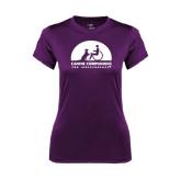 Ladies Syntrel Performance Purple Tee-