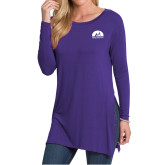 Ladies Purple Side Slit Tunic-