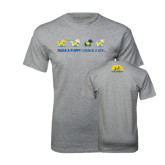 Sport Grey T Shirt-Cartoon Puppies