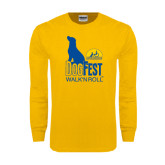 Gold Long Sleeve T Shirt-Dog Fest Tall