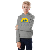 Youth Under Armour Grey Fleece Hoodie-