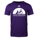 Adidas Purple Logo T Shirt-