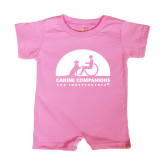 Bubble Gum Pink Infant Romper-