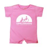 Bubble Gum Pink Infant Romper-