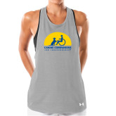 Ladies Under Armour Grey Pinhole Tank-