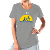 Ladies Under Armour Grey Charged Cotton Tee-