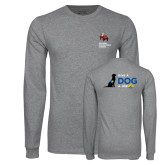 Grey Long Sleeve T Shirt-Canine Companions Strong