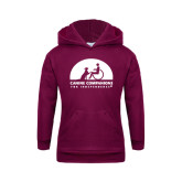 Youth Maroon Fleece Hoodie-