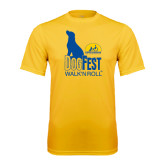 Syntrel Performance Gold Tee-Dog Fest Tall