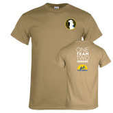 Khaki Gold T Shirt-Veterans Initiative