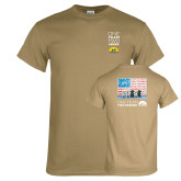 Khaki Gold T Shirt-One Team Two Heroes Stacked