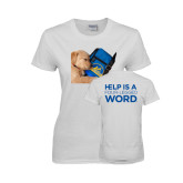 Ladies White T Shirt-Dog Sleeping