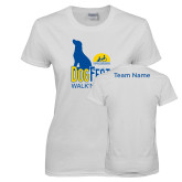 Ladies White T Shirt-Dog Fest Tall