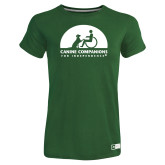 Ladies Russell Dark Green Essential T Shirt-