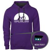 Contemporary Sofspun Purple Hoodie-