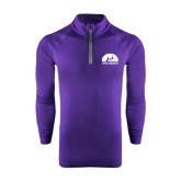 Under Armour Purple Tech 1/4 Zip Performance Shirt-