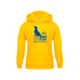 Youth Gold Fleece Hoodie-Dog Fest Tall
