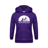 Youth Purple Fleece Hoodie-