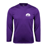 Performance Purple Longsleeve Shirt-