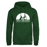 Russell DriPower Dark Green Fleece Hoodie-