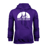 Purple Fleece Hood-
