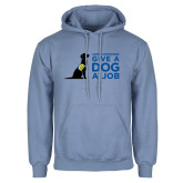 Light Blue Fleece Hoodie-Give a Dog a Job