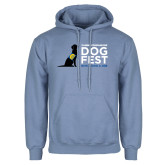 Light Blue Fleece Hoodie-DOGFEST stacked