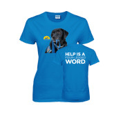Ladies Sapphire T Shirt-Dog with Leash