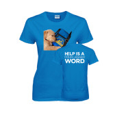 Ladies Sapphire T Shirt-Dog Sleeping