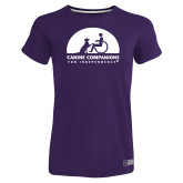 Ladies Russell Purple Essential T Shirt-