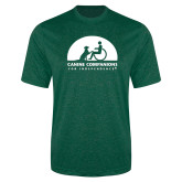 Performance Dark Green Heather Contender Tee-