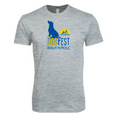 Next Level SoftStyle Heather Grey T Shirt-Dog Fest Tall
