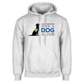 White Fleece Hoodie-Give a Dog a Job