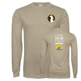 Khaki Gold Long Sleeve T Shirt-Veterans Initiative
