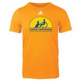 Adidas Gold Logo T Shirt-