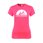 Ladies Performance Hot Pink Tee-