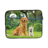 13 inch Neoprene Laptop Sleeve-Big Dog with Puppy