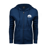 ENZA Ladies Navy Fleece Full Zip Hoodie-
