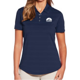 Ladies Callaway Horizontal Textured Navy Polo-