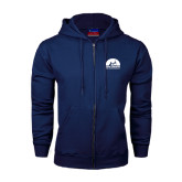 Navy Fleece Full Zip Hood-