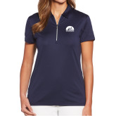 Ladies Callaway Tulip Sleeve Navy Zip Polo-