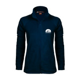 Ladies Fleece Full Zip Navy Jacket-