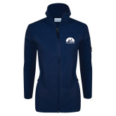 Columbia Ladies Full Zip Navy Fleece Jacket-