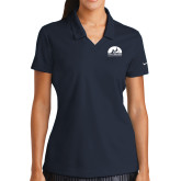 Ladies Nike Golf Dri Fit Navy Micro Pique Polo-