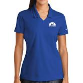 Ladies Nike Golf Dri Fit Royal Micro Pique Polo-