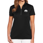 Ladies Callaway Tulip Sleeve Black Zip Polo-