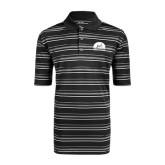 Adidas Climalite Black Textured Stripe Polo-