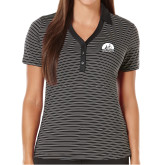 Ladies Callaway Core Stripe Black/White Polo-