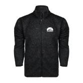 Black Heather Fleece Jacket-